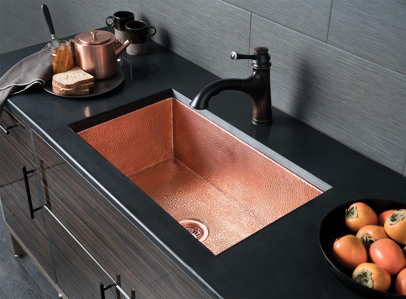 Cocina 30 Deep Sink Copper Kitchen Sink