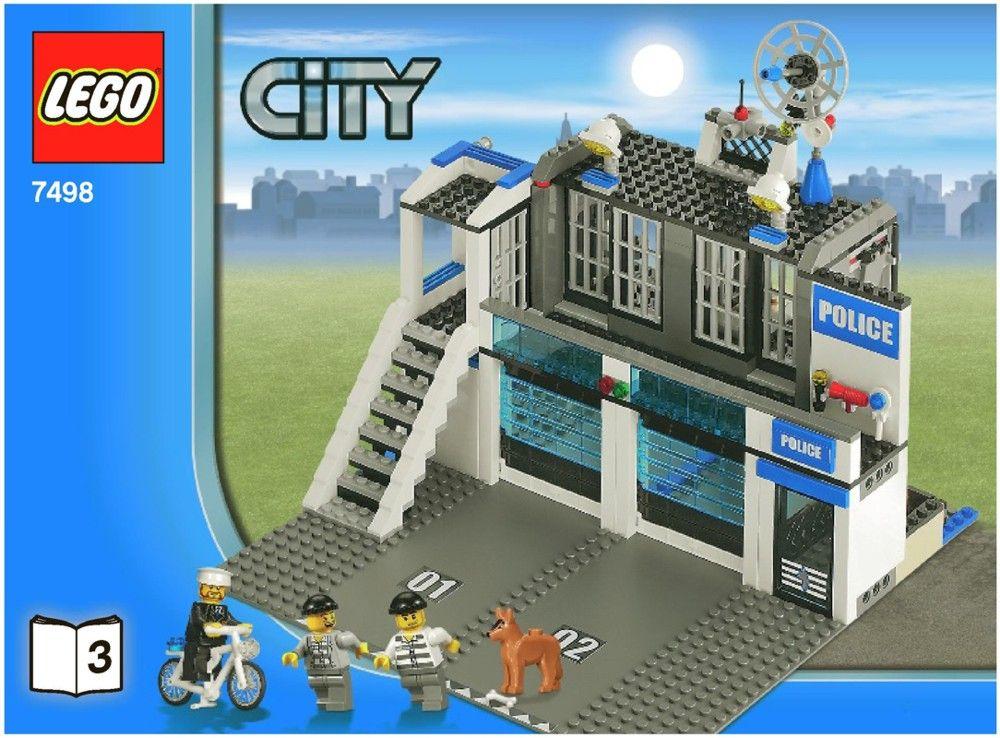Lego Police Station Instructions 7498 City Lego City Police Station Lego City Police Lego Police Station