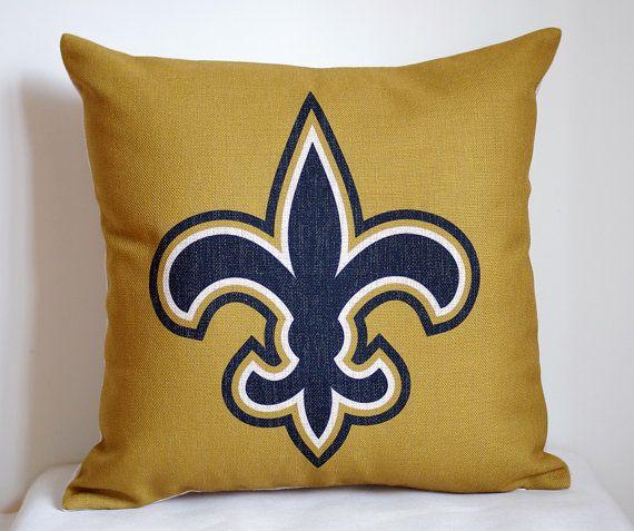 NFL New Orleans Saints pillow, New Orleans Saints decor pillow cover ...