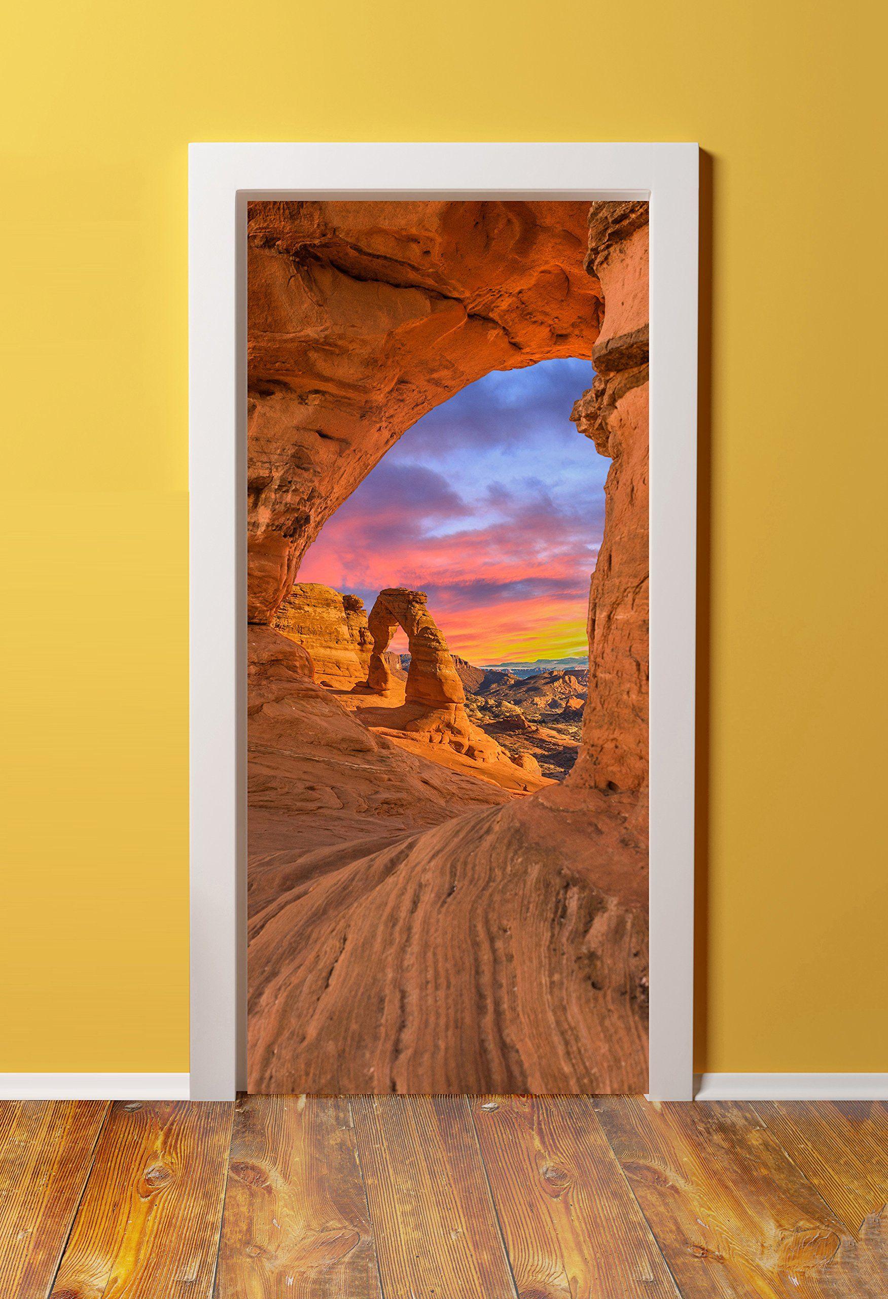 Amazon 32x80 Canvas 3D Door Sticker Murals PEEL & STICK