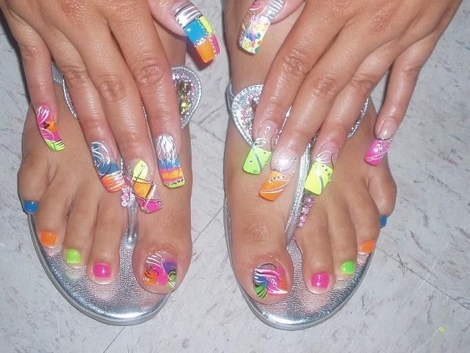 Toe Nail Designs Ideas cool spring toe nail art designs ideas trends 2014 fabulous nail art designs Funky Feet And Hands Nail Art Design Ideas