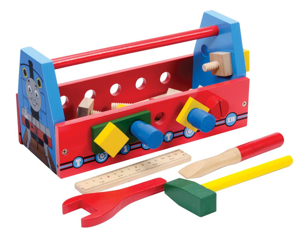 Thomas the Tank Engine Wooden Tool Box W/ Tools | Schylling