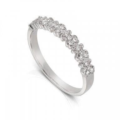 ec0b1af8834f Alianza de boda Fancy de Tous en oro blanco y diamantes