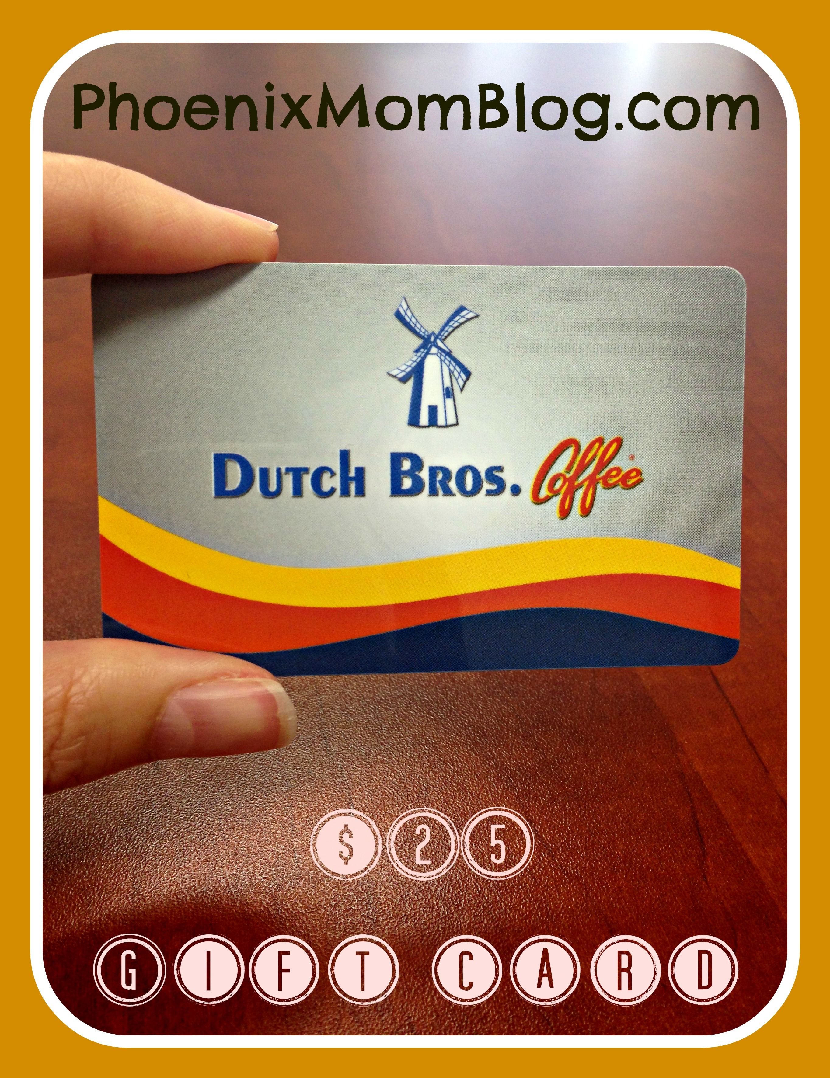 Giveaway 25 Dutch Bros Gift Card Dutch Bros Bro Gifts