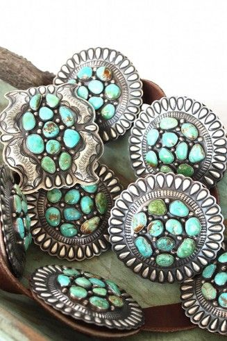 Danny Martinez Turquoise & Sterling Concho belt