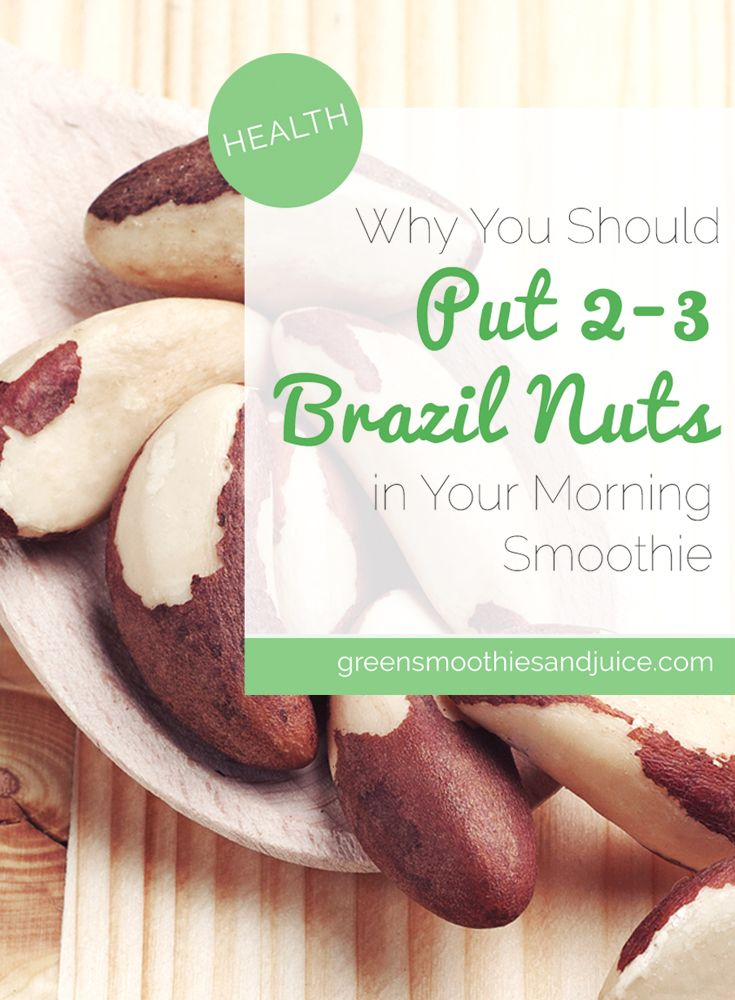 Did you know that adding just 2-3 brazil nuts into your daily smoothie can help prevent the formation of small tumors?  #health #healthtips #healthyfood #rawfood