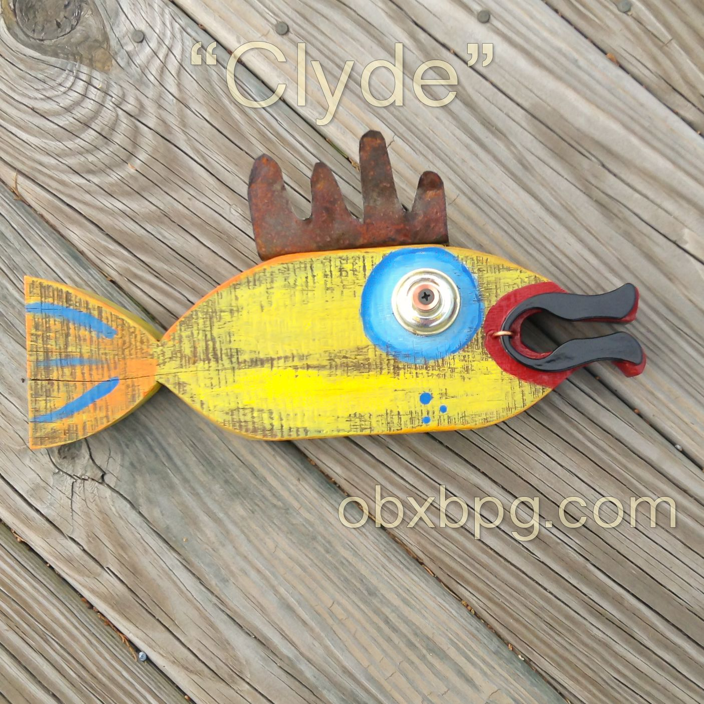 Clyde Wood and Mixed Media Fish Wall Art by Mary Neligan of Mary\'s ...