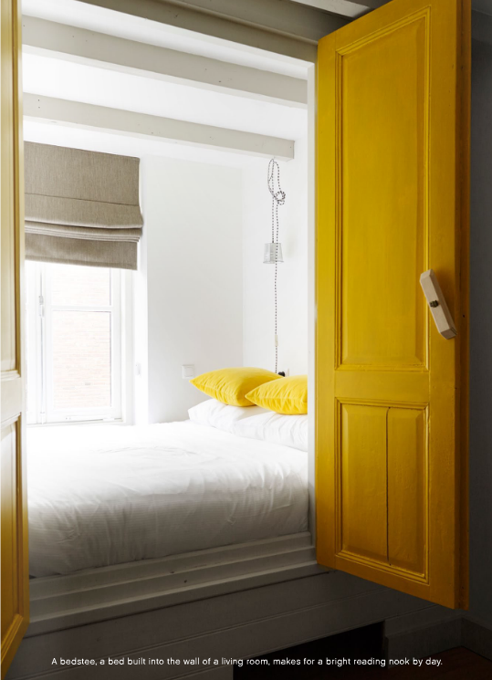 lit alc ve porte jaune id e pour petit espace chambre l ana pinterest maison alc ve. Black Bedroom Furniture Sets. Home Design Ideas
