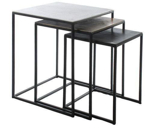 Metall Beistelltisch 3er Set Dwayne Westwingnow Beistelltische Beistelltisch Beistelltische Set