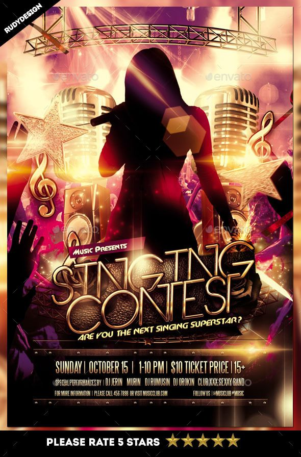 Singing Contest Flyer Singing Contest Psd Templates And Template