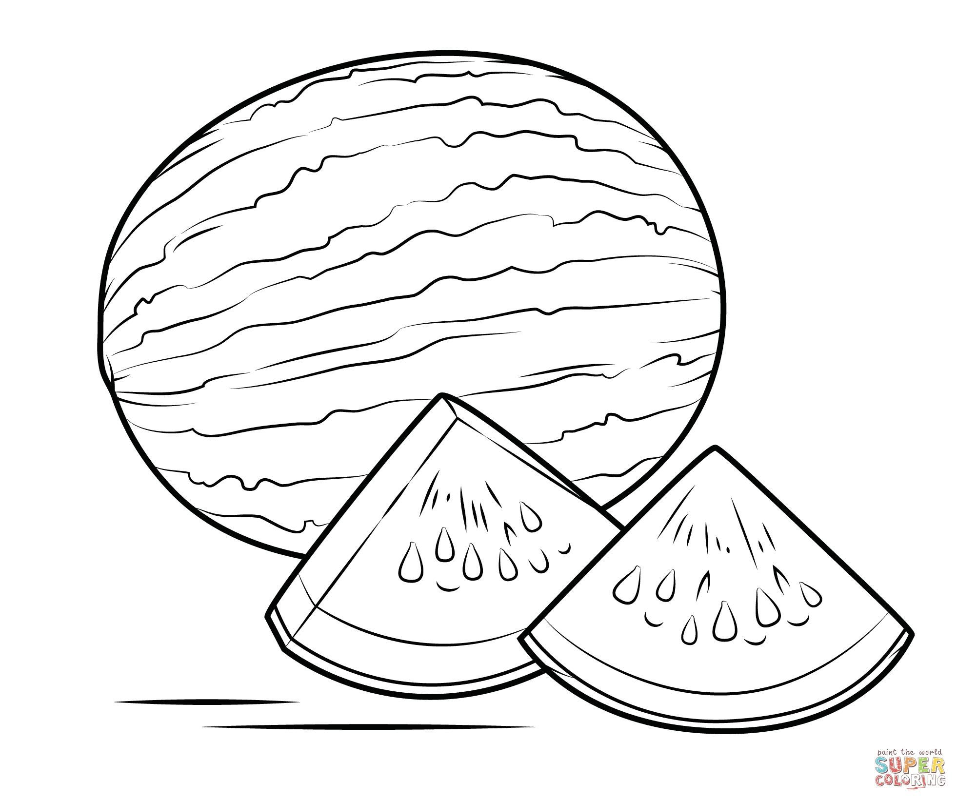 10 Coloring Page Watermelon In 2020 Coloring Pages Printable Coloring Free Coloring Pages