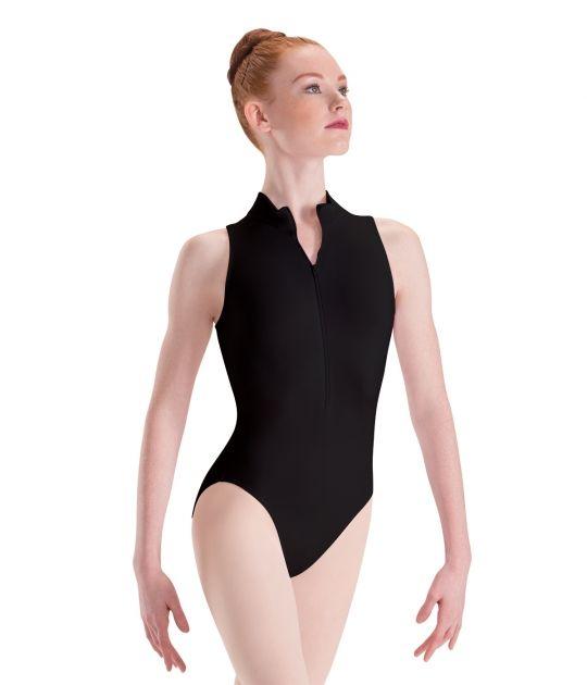 53fbef222 Kids and Adult Zip Front Mock Turtleneck Ballet Dance Leotard by ...