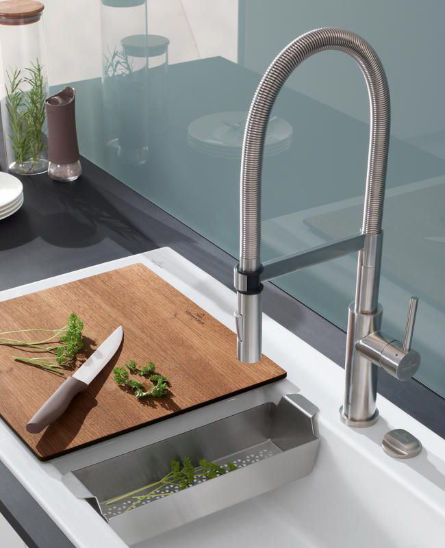 Villeroy  Boch Steel Expert Die Küchenarmatur verfügt über die - armatur küche ausziehbar