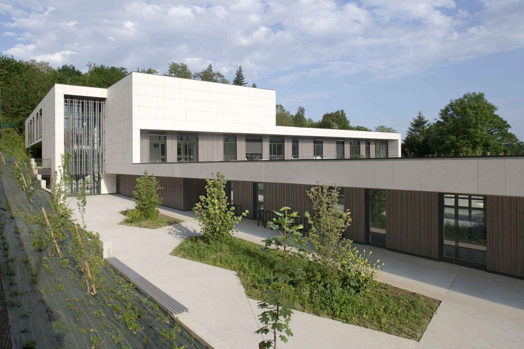 Elegant Built On An Area Of 7962 Square Meters With Strong Slope, The School  Complex Of