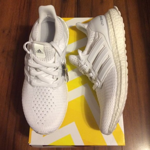 Adidas Ultra Boost All white ultra boost. Kids size 4 e83ba24ea530
