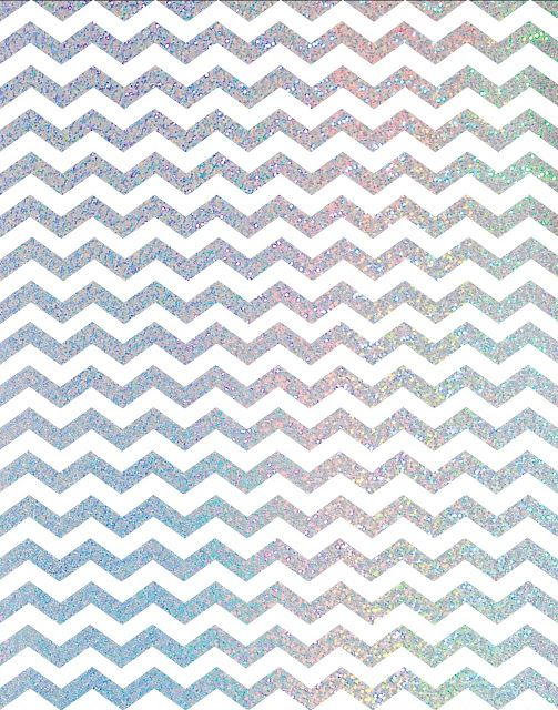 Metallic Gold Silver Holographic Foil Chevron Freebies