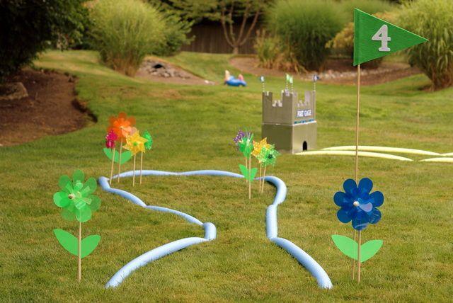 Golf Birthday Party Ideas Photo 17 Of 48 Golf Birthday Party Kids Playing Backyard Fun