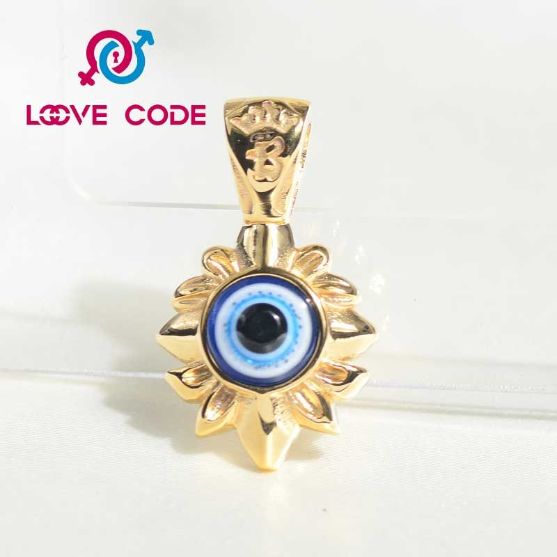 Beautiful gold plated stainless steel greek evil eye pendant beautiful gold plated stainless steel greek evil eye pendant aloadofball Choice Image