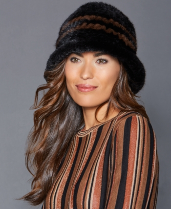 f9844c5f82fb2 The Fur Vault Knitted Mink Fur Hat - White in 2019