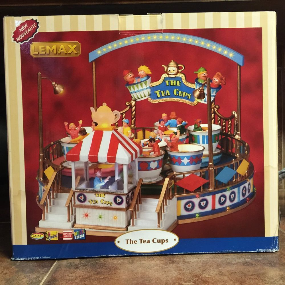 88=Lemax The Tea Cups Animated Carnival Ride Lights Sound