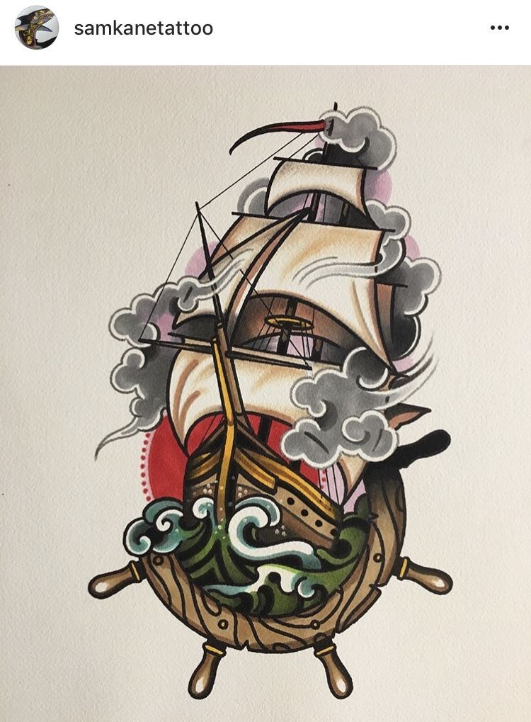 Old School Pirate Tattoos : school, pirate, tattoos, Voyage, #tattoos, School, Tattoo, Designs,, Tattoos,, American, Traditional