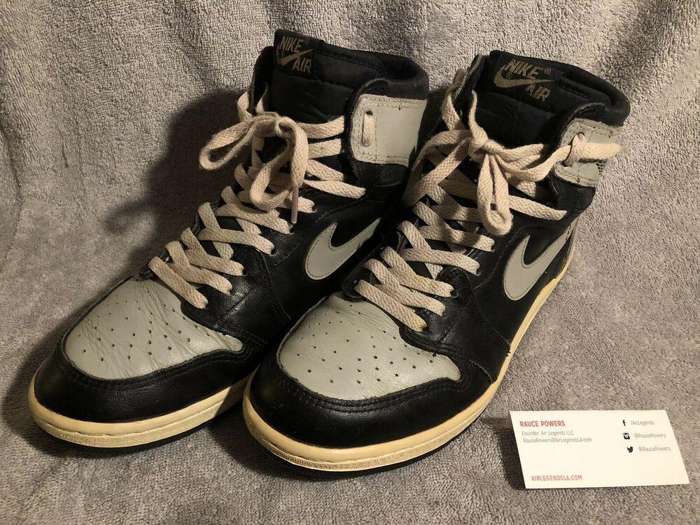 half off c4618 59103 Shadow Grey 1985 Nike Air Jordan 1 Size 9.5 OG Michael Jordan Bulls