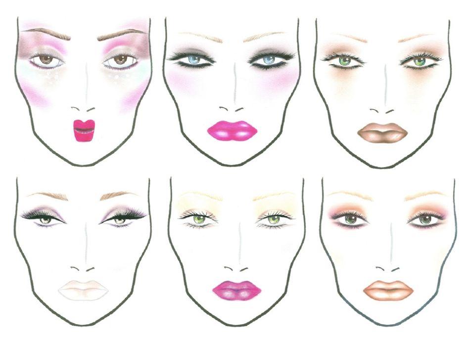 Te Identificas Con Algun Facechart Hoy Como Aplicar El Maquillaje Estilos De Maquillaje Face Charts