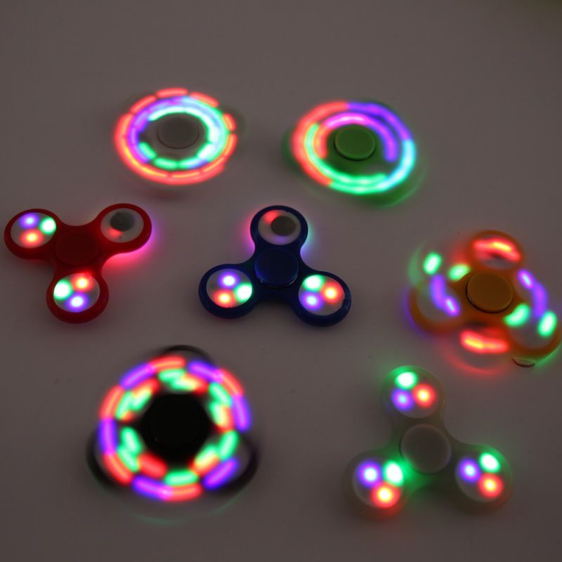 LED Light-Up Flashing Assorted Fidget Tri-Spinner Anxiety /& Stress Relief Toy