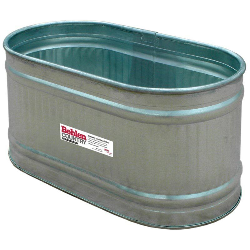 Behlen 2 X2 X4 Galvanized Round End Stock Tank Metal Water Trough