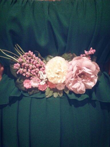 Cinturon de flores para vestido de fiesta | Mis creaciones ...