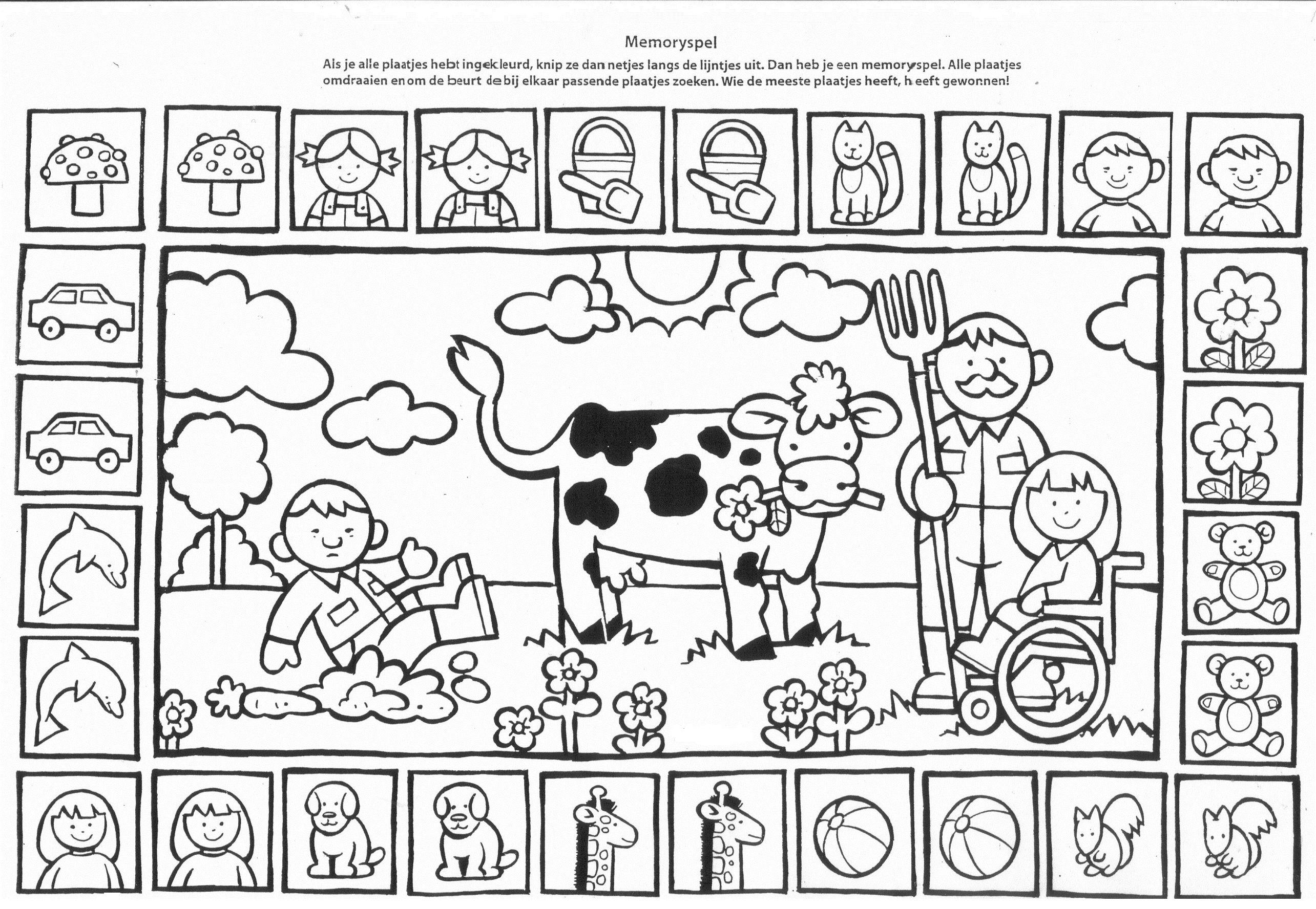 Kleurplaat En Memorie Boerderijdieren Kinderboerderij Boerderij Logo