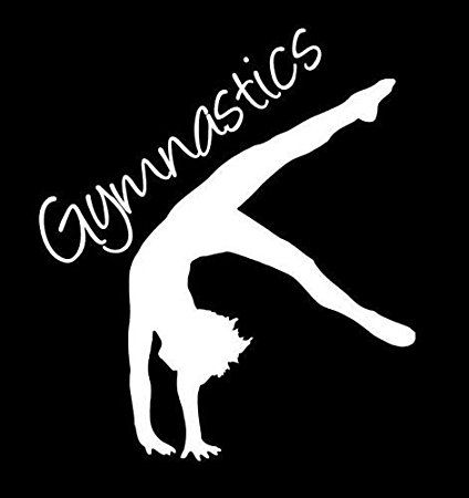 Gymnastics gymnast sports vinyl decal stickerwhitecars trucks vans suv laptops wall art