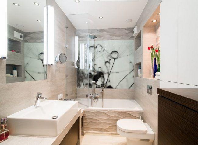 Badezimmer Ideen für kleine Bäder - Fototapete als Wanddeko bad - fototapete f r badezimmer