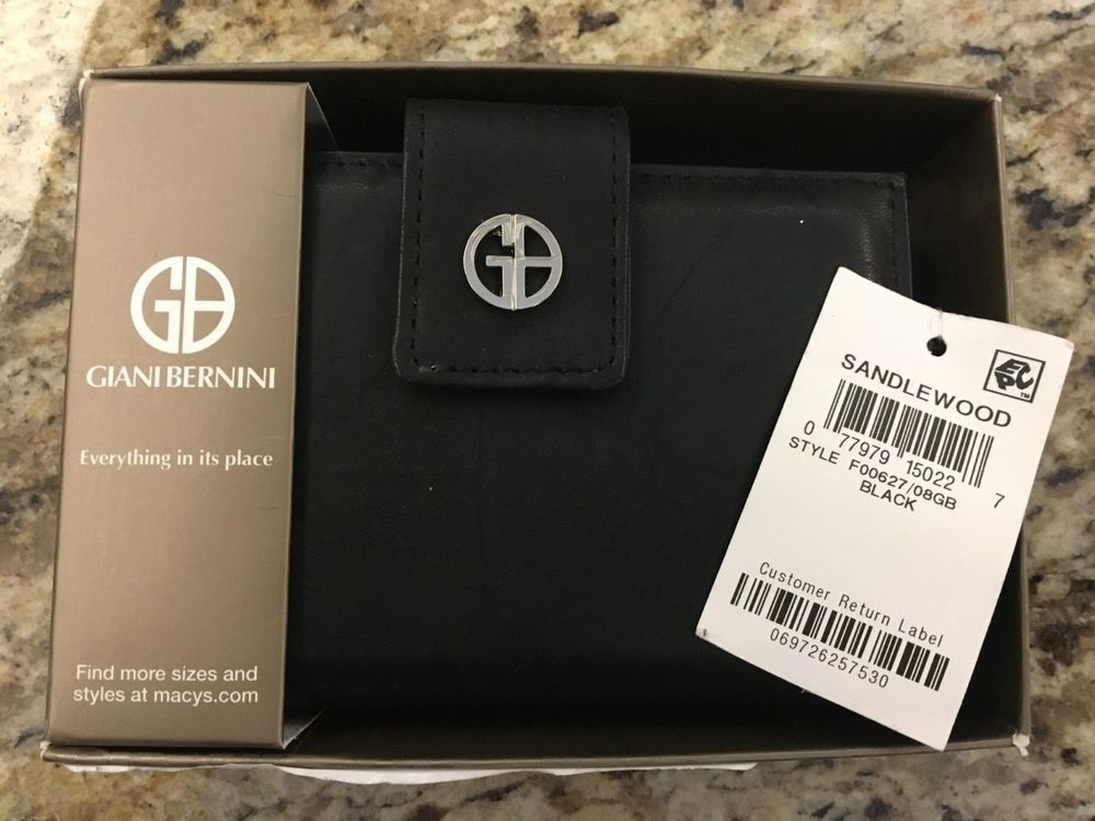 Giani Bernini Black Wallet Nwt Fashion Clothing Shoes