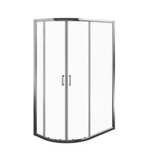 Edge 6 Offset Quadrant Shower Enclosure Tray With Double Sliding Doors W 1200mm D 800mm Quadrant Shower Enclosures Quadrant Shower Double Sliding Doors