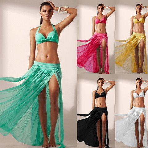 Split beach skirt
