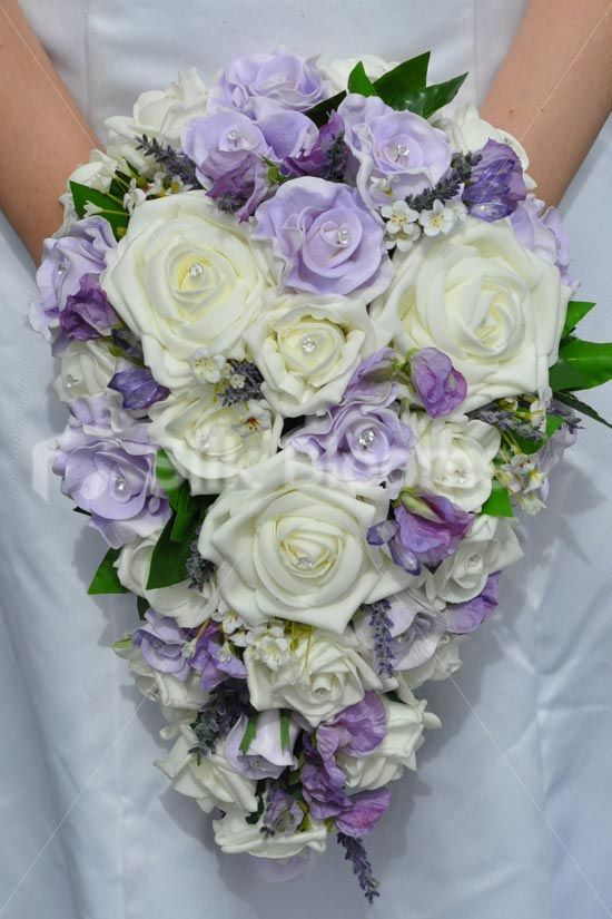 Stunning Artificial Foam And Fresh Touch Ivory And Lilac Bridal