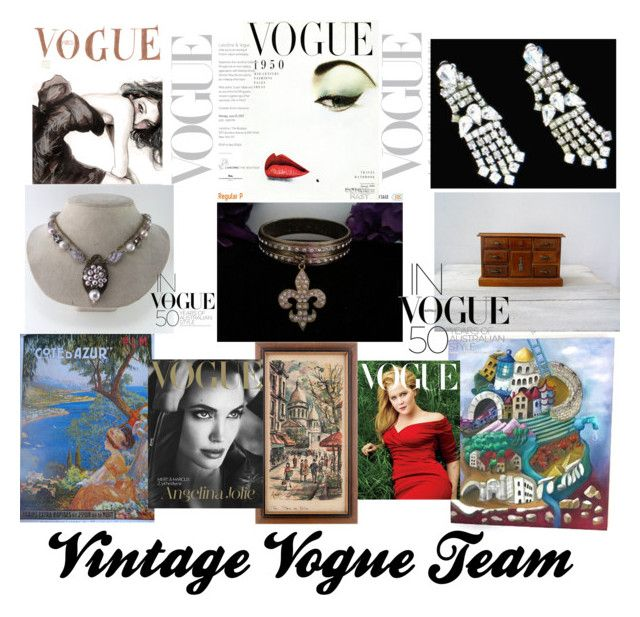 """""""In Vogue......."""" by martinimermaid ❤ liked on Polyvore featuring WALL, Sí.Sí Design and vintage"""
