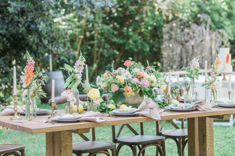 Spring Wedding Table Scape Lauren Alisse Photography Ardenwood Historic Farm