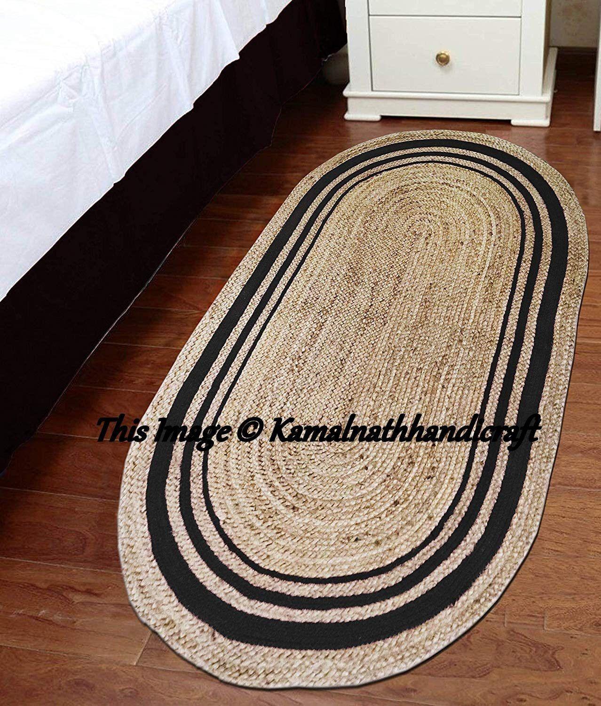 Floor Rug Handmade Jute Natural