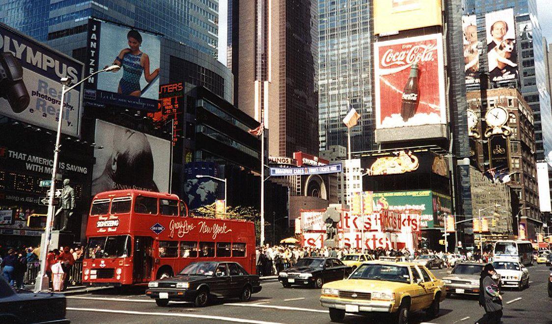 New York Times square, New york street, Photo