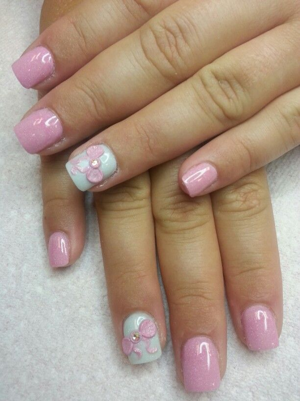 Baby Shower Ready By Tonya With Images Baby Shower Nails Baby