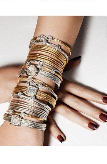 Charriol ® 'Celtic Noir' Round #Diamond Station #Bracelet  #jewelry #diamonds #bracelets