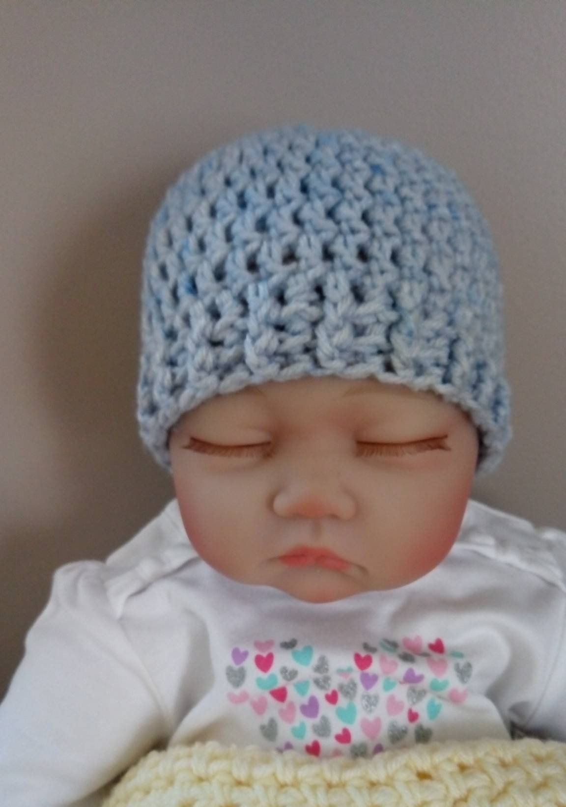 b35a3182458 Crocheted unisex newborn hat by CrochetedHatsbyMPM on Etsy. Crocheted  unisex newborn hat by CrochetedHatsbyMPM on Etsy Baby Boy Hats ...