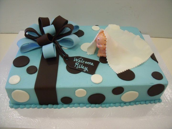 Simple Boy Baby Shower Cakes ~ Simple baby boy shower cake simple baby boy shower sheet cakes