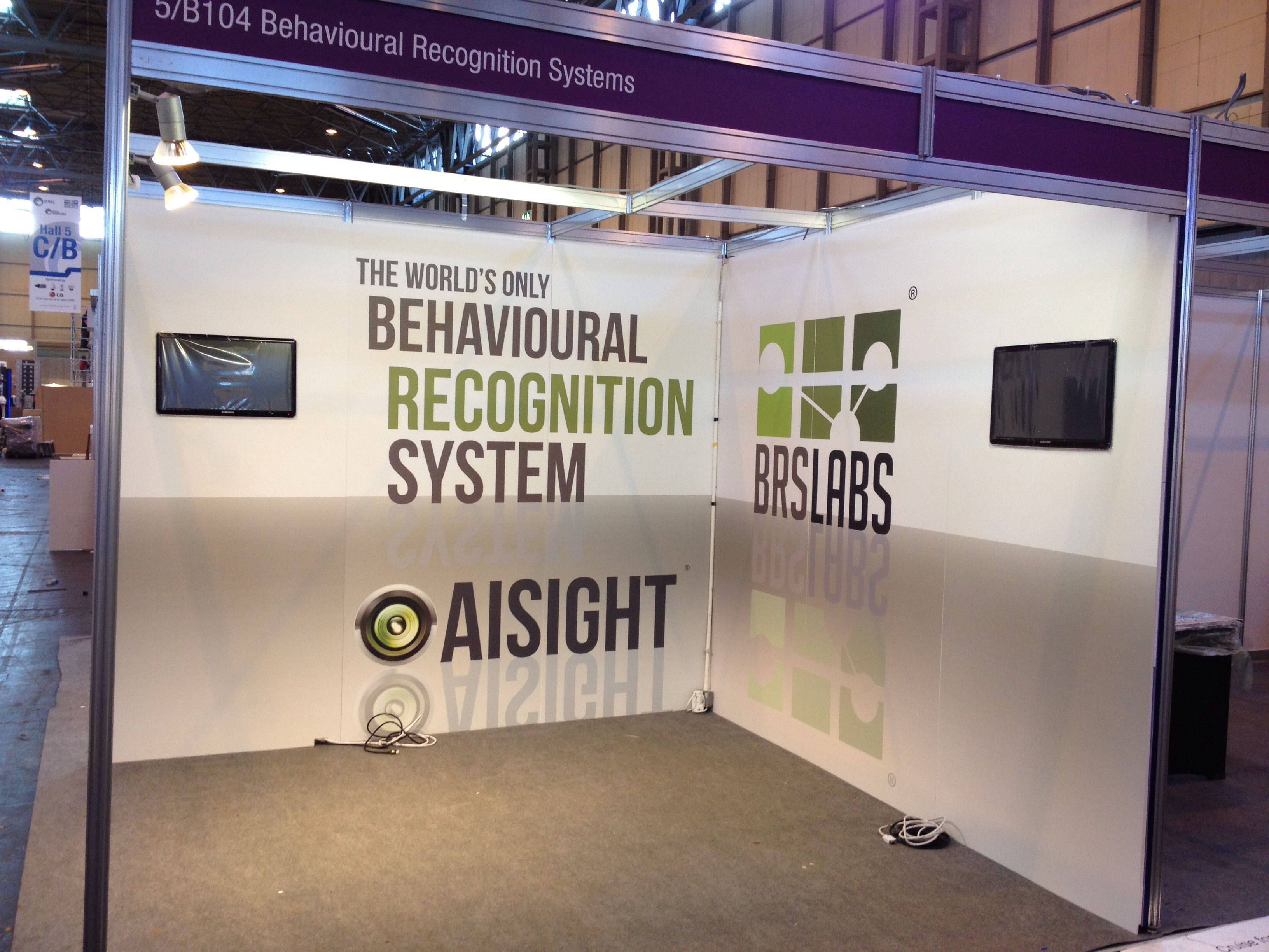 Exhibition Stand Panels : Clad with dibond panels built in tvs using our