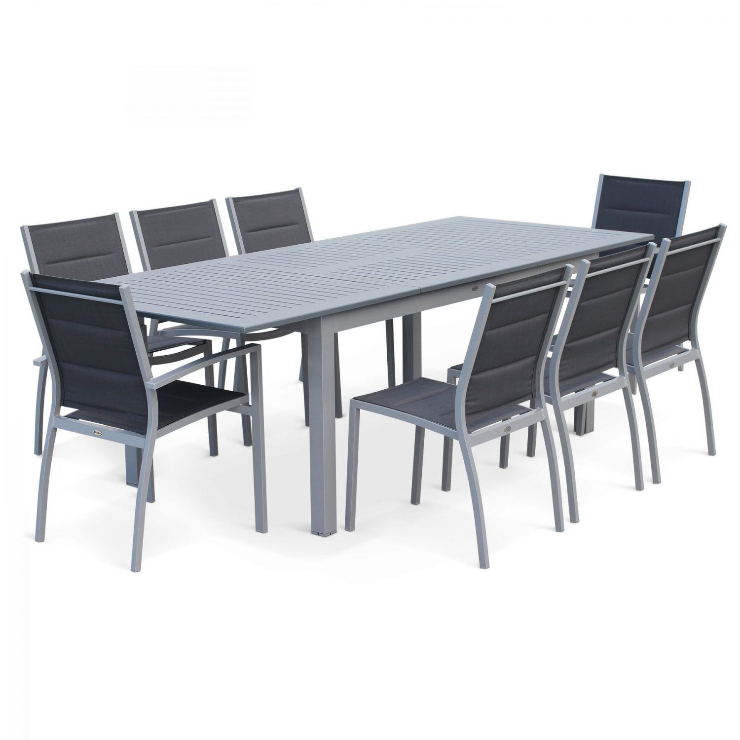 Chicago 8 10 Seater Dining Set White Grey Garden Dining Set