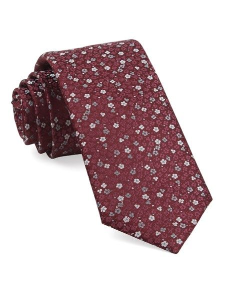 995a247dcf90 Flower Fields Ties - Burgundy | Ties, Bow Ties, and Pocket Squares | The Tie  Bar