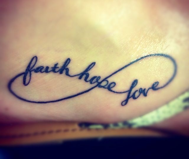 Faith Love And Hope Bracelet Tattoo On Ankle: Faith, Hope & Love
