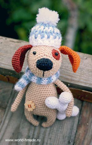собачка крючком описание вязания и пошаговые фото амигуруми